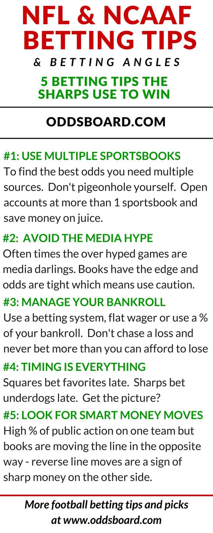 5 Tips Sharps Use to Bet Football Bet football, Betting