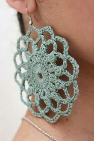 7336737b711a Resultado de imagen para aretes tejidos en crochet paso a paso ...