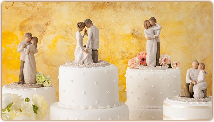 Cake Toppers - I love Willow Tree figurines, but what do you think about one of these for your cake topper?