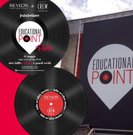 Invitation and display materials for the new technical center of Revlon Professional. Let's start the party! see more on www.tecnostudi-comunicazione.it