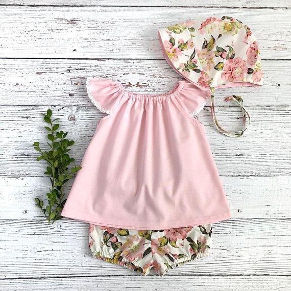 Pink Sunbonnet Baby Reversible Sunbonnet