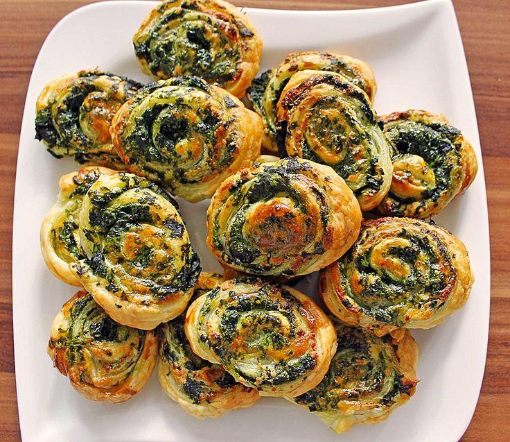 Blätterteig - Spinat - Schnecken, ein leckeres Rezept aus der Kategorie Fingerfood. Bewertungen: 258. Durchschnitt: Ø 4,3.