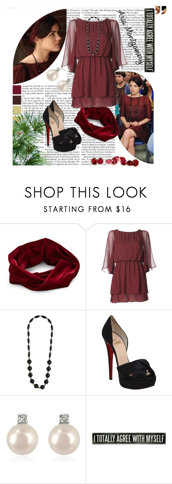 """""""Aria <3"""" by nice96 ❤ liked on Polyvore featuring Eva Franco, Christian Louboutin, Forzieri, WALL and Rubis"""