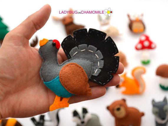 FOREST Animals WOODLAND animals felt magnets by LadybugOnChamomile