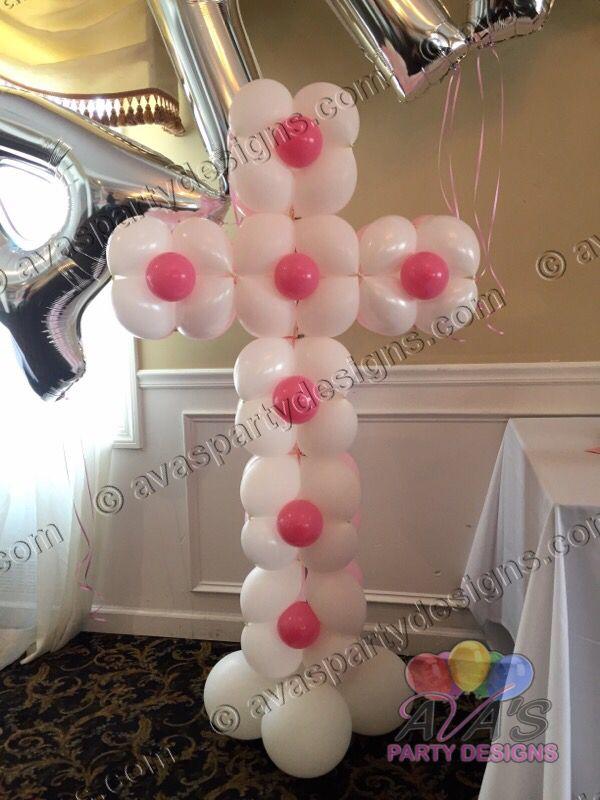 13 best baptism images on pinterest balloon decorations for Balloon decoration ideas for baptism