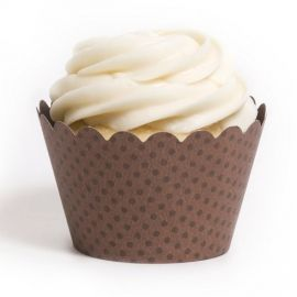 Emma Chocolate Brown Cupcake Wrappers