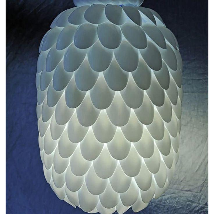 #diy #lamp van lepels! Zelf maken?! Dat kan bij www.stiksels.com, volg ons ook op Facebook bij stikselsenstijl