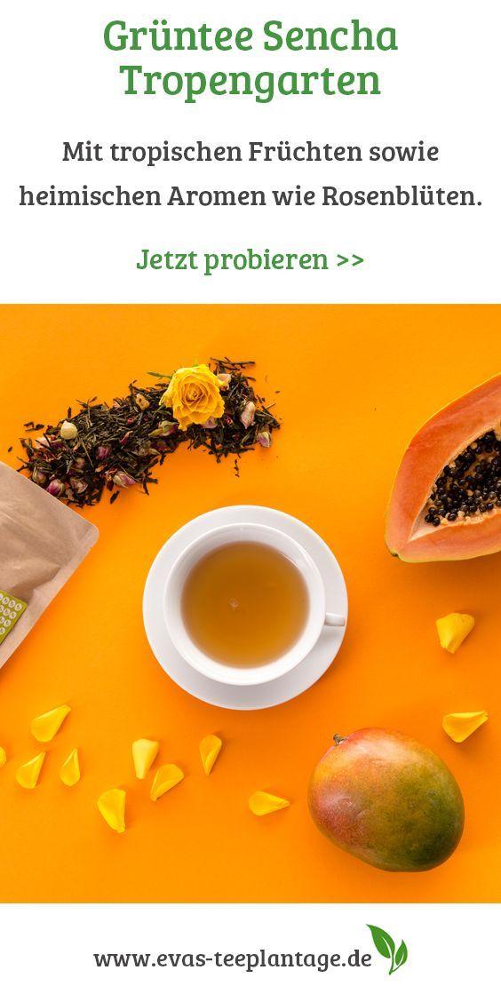 Sencha Tropengarten Grüner Tee Kaufen Papaya Grüner