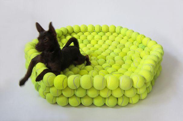 tennis ball dog bed