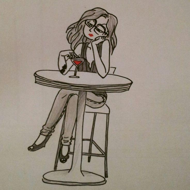 Cocktail aux lèvres rouges Audrey Croizer