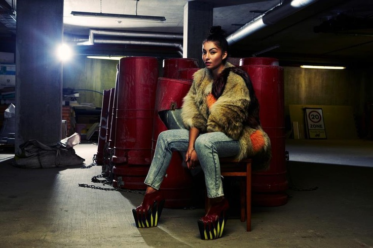 YASMIN WEARS #JOANNEHYNES AW11,   SEE MORE AT:http://www.joannehynes.com/blog/