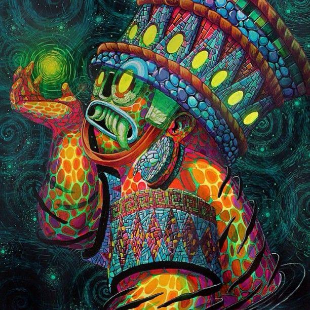 Cix Mugre 12/2015 #tlaloc #sagradadualidad #canvas #contemporaryart #artcollector #mexico #cix #cixmugre