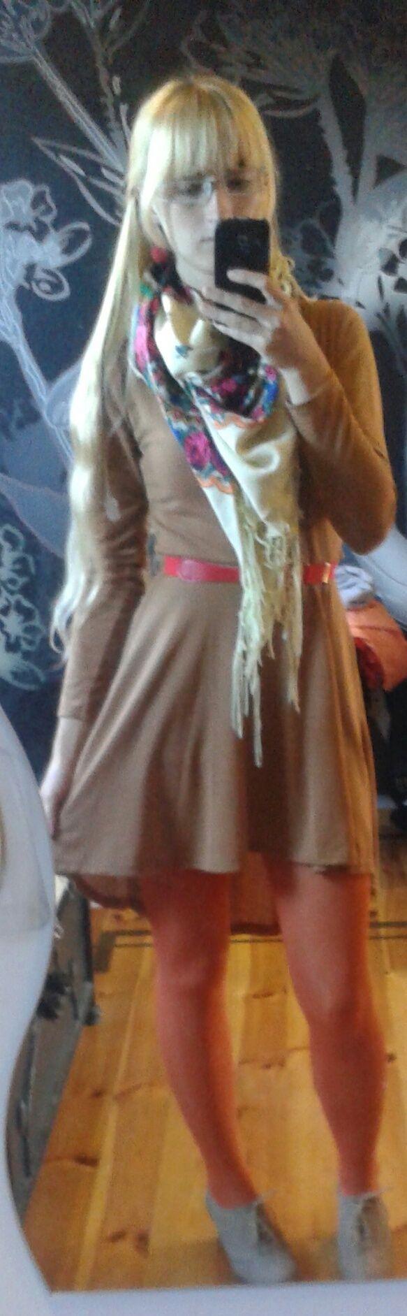 Brown dress/ Angel-a