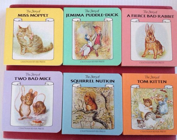 Lot of 6 Vintage Beatrix Potter Little Board by RosieNostalgia