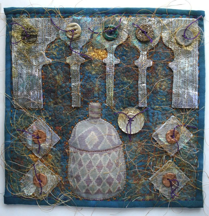 October: Mixed media materials used for this design inspired by small detailed decoration seen in Morocco. Made by Greta Fitchett.