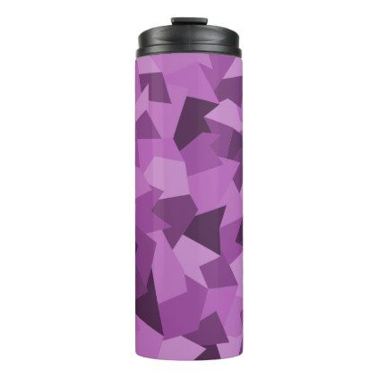Thermal cup with abstract sample in purple - sample design diy personalize idea