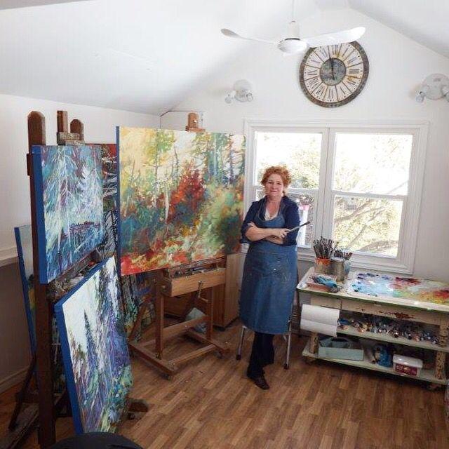 Sheila Davis in her studio