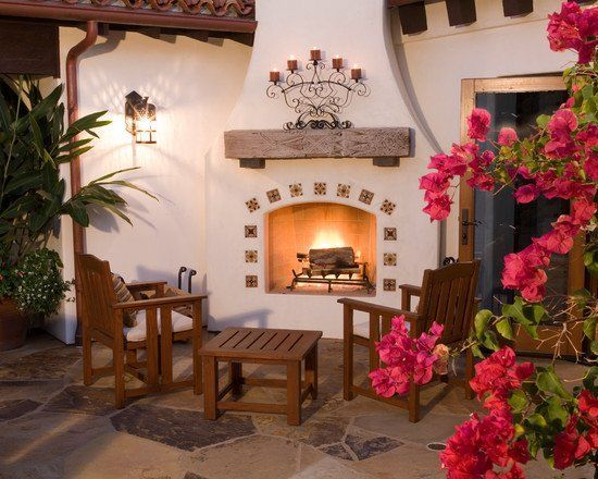 1000 ideas about outdoor fireplace designs on pinterest for Spanish style outdoor kitchen