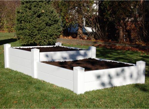 Dura-Trel 4 x 8 Rectangle Split Level Raised Planter Bed - Raised Bed & Container Gardening at Hayneedle