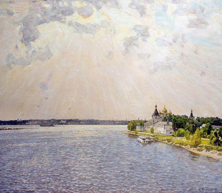 Река волга в картинах художников