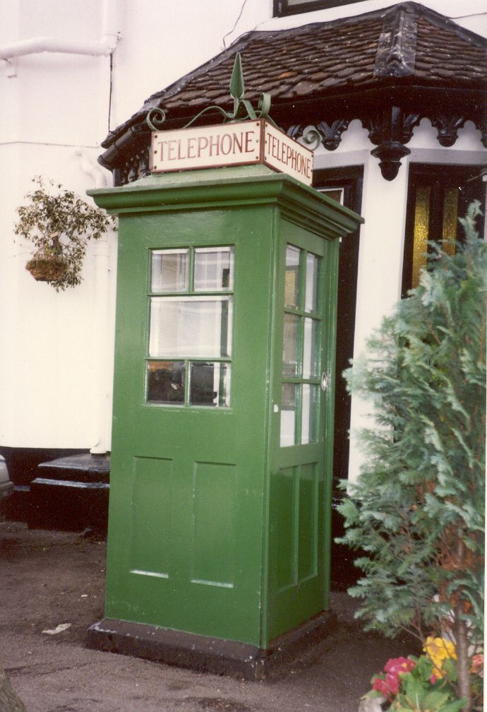 K1 Post Office phone box at Ray Mill Island, near Boulter's Lock, Maidenhead, Berkshire, photographed in 1994. One of only about five remaining.