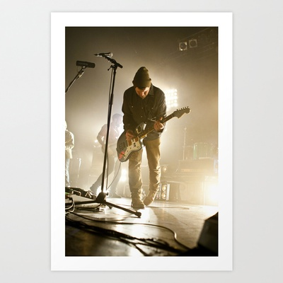 Brand New - Jesse Lacey Art Print by Lights & Sounds Photography