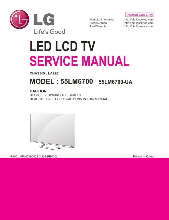 Lg 55lm6700 Ua Tv Service Manual And Technical Troubleshooting Tv Services Repair Guide Tv