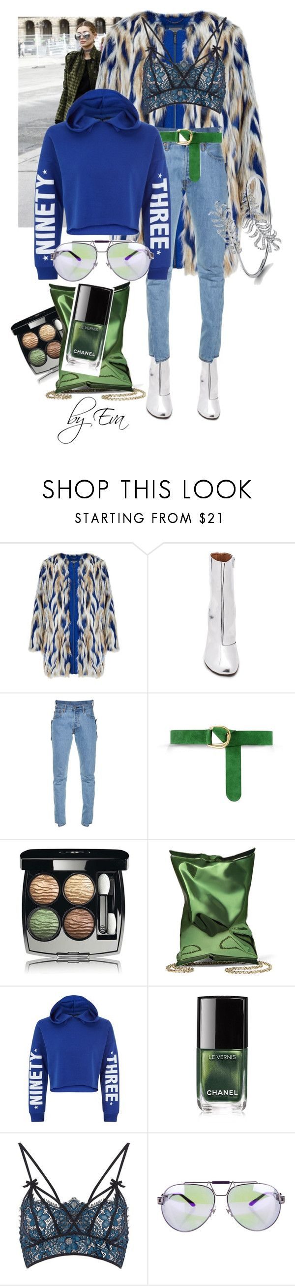 """""""Hailey Baldwin Style"""" by model-approved ❤ liked on Polyvore featuring Vetements, Barbara Bui, Chanel, Anya Hindmarch, New Look, For Love & Lemons and Versace"""