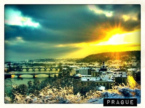 Prague, the capital city.  ... something interesting to note - Prague is the fourteenth-largest city in the European Union, with population of nearly 2 million people.