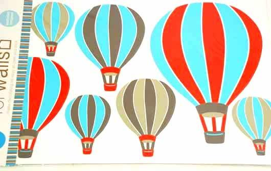 Väggdekorationer och Wallies / Väggdekal luftballonger och Moln(House of Hedda)