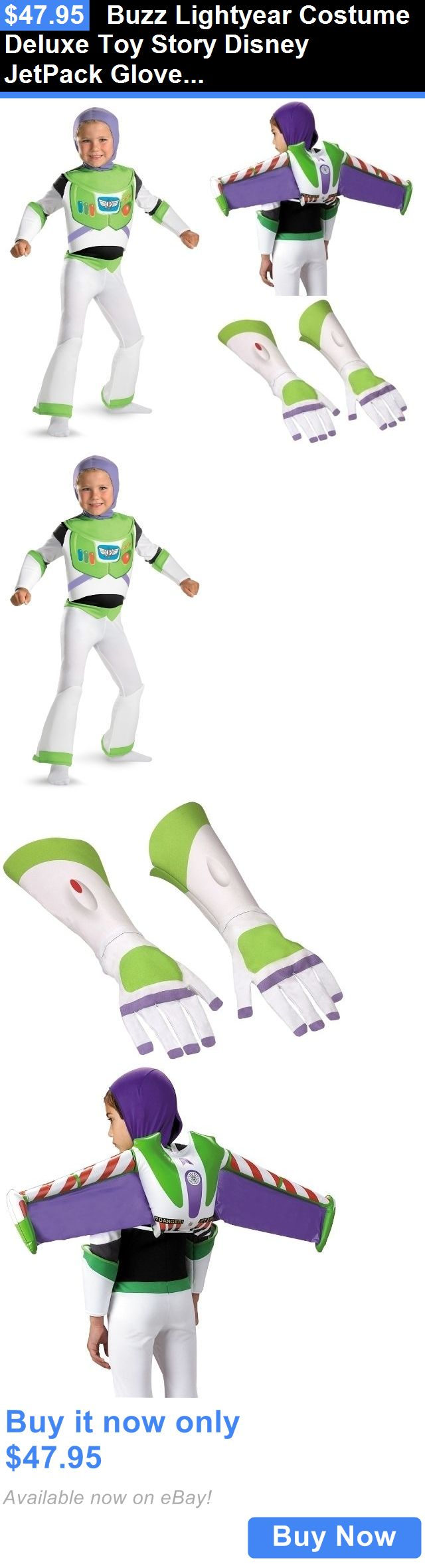 Kids Costumes: Buzz Lightyear Costume Deluxe Toy Story Disney Jetpack Gloves Astronaut Space BUY IT NOW ONLY: $47.95