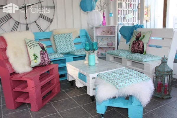 Garden Furniture Made Out Of Recycled Pallets Lounges & Garden Sets
