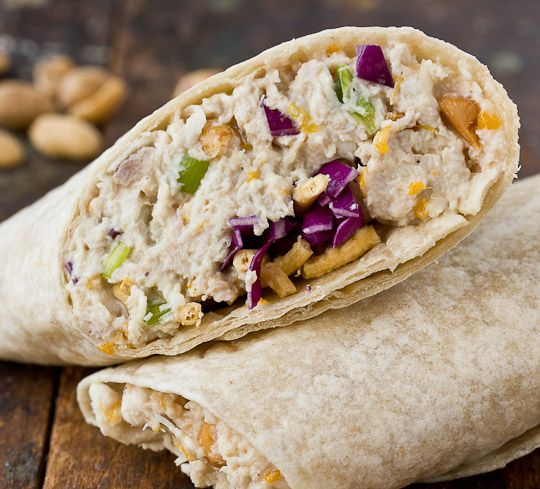 Made this for dinner last night and everyone loved it.  (A little dry so I added extra of the mayo mixture).  *Cashew Chicken Salad Wraps*