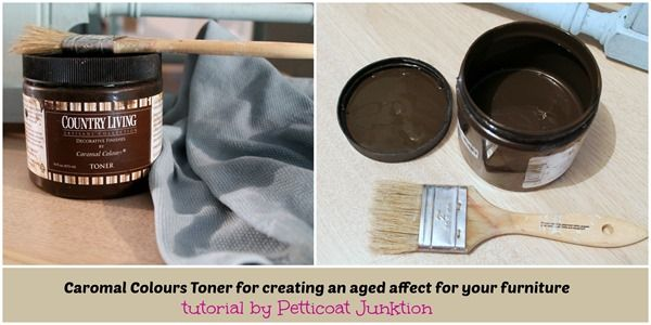how to antique painted furniture...Toner for Antiquing furniture