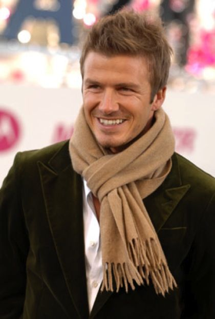wowMenfashion, Men Style, Men Fashion, David Beckham, Scarves, Eye Candies, Beautiful People, Davidbeckham, Hair