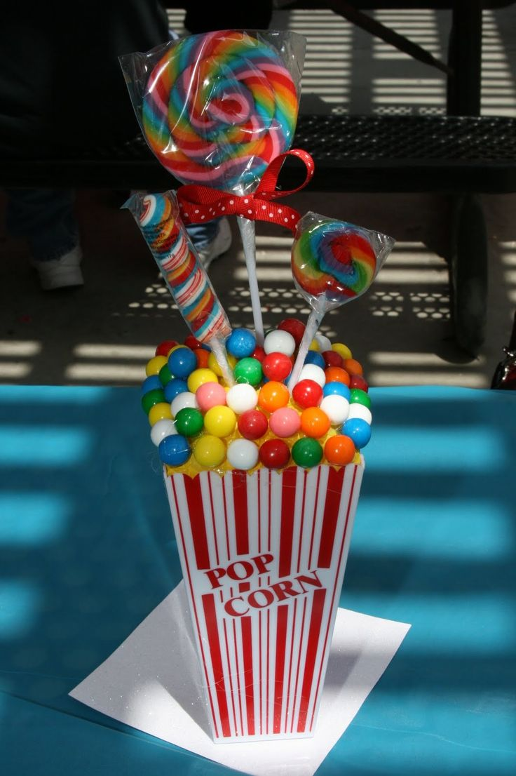 images of circus centerpieces | Customer Party: Come One..Come All!