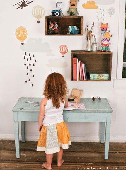 bureau-school-kinderkamer-slaapkamer-kind-jongen-meisje-interieur-tafel-stoel-inspiratie-tekenen-knutselen-vintage-modern-ladylemonade_nl11