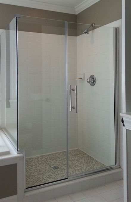 17 best images about shower doors on pinterest custom for 3 panel tub shower doors