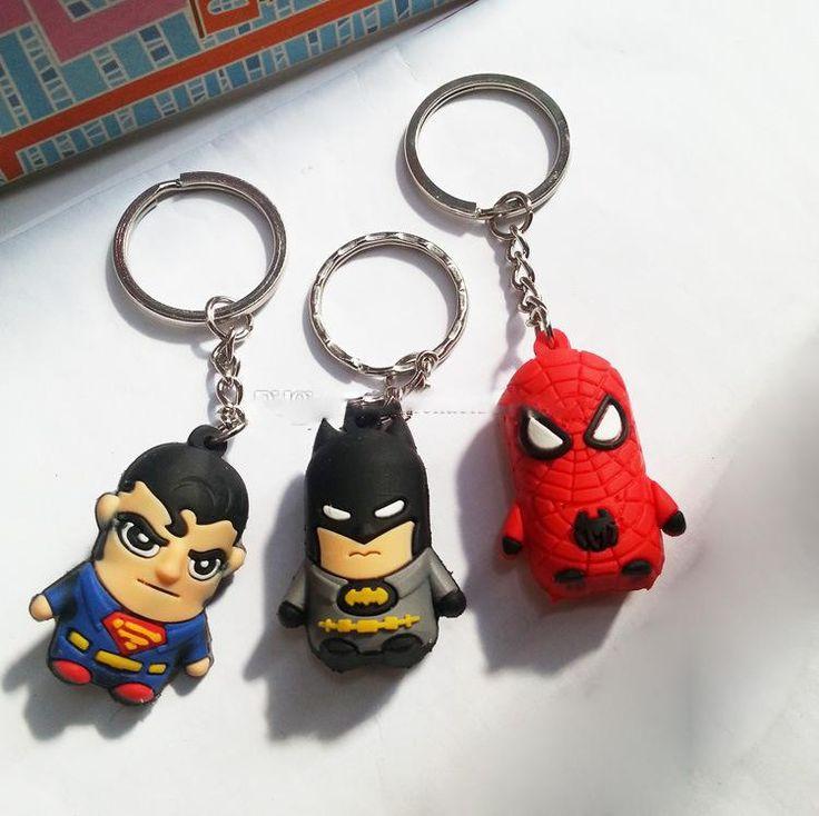 новый супермен/Бэтмен/человек-паук мультфильм аниме мальчик брелок двусторонней мягкие игрушки
