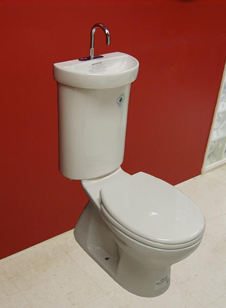 Caroma Profile Smart 305 Toilet With Integrated Sink....uber Cool!