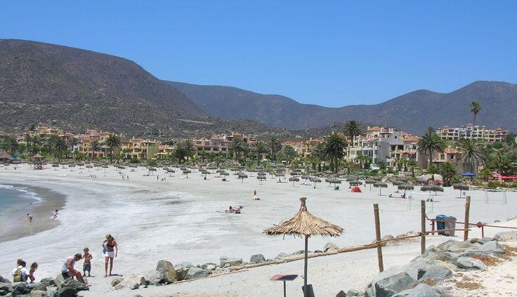 White sand beach in Las Tacas, Chile