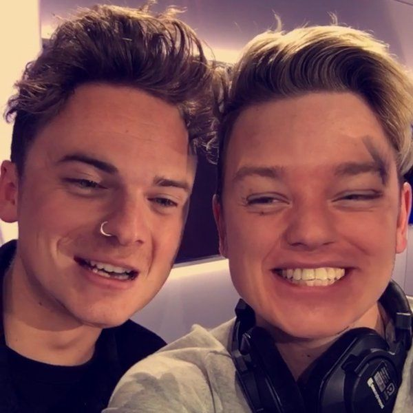 Conor and Jack Maynard did face swap while on their Capital fm live broadcast! Um I have no words to describe this! (Photo credit: Capital Twitter)