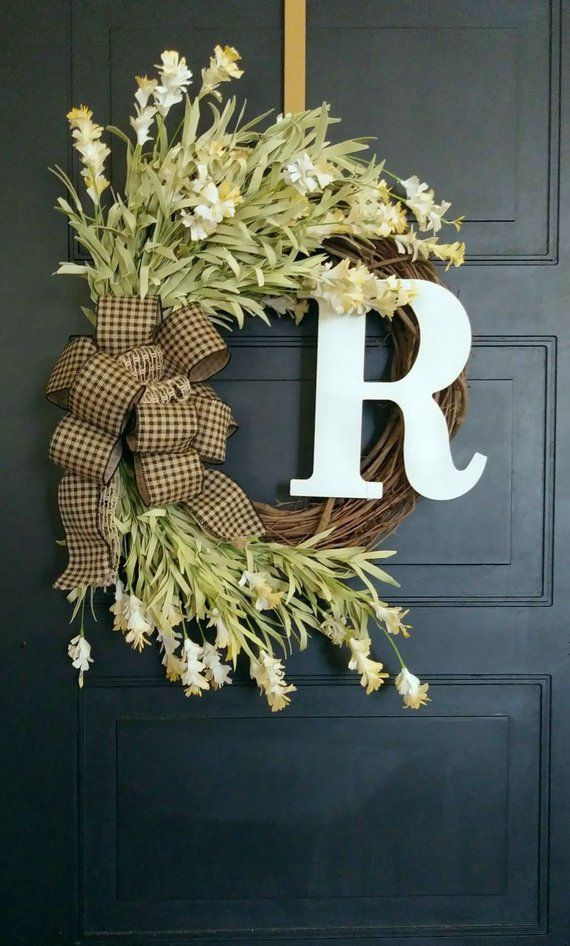 Farmhouse Wreath Country Wreath Front Door Wreath Rustic Wreath Welcome Wreath Cottage Wreath Wreaths Farmhouse Wreath