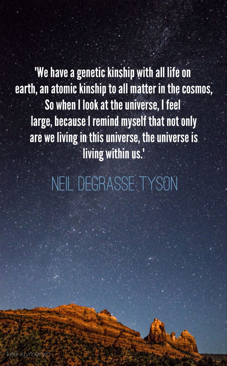 We are the #Universe Neil deGrasse Tyson #quote