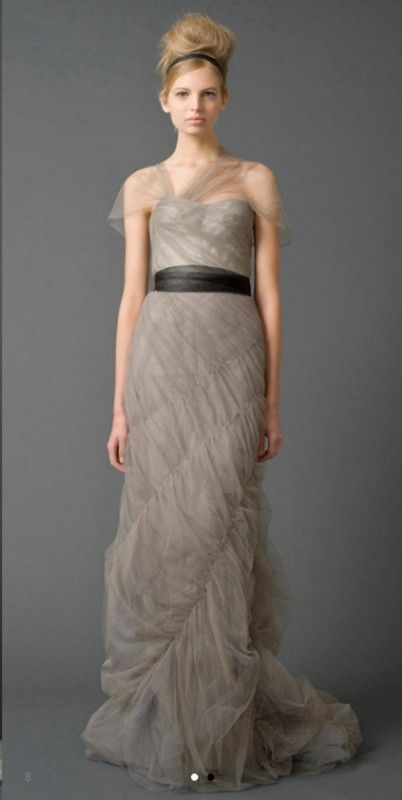119 best taupe wedding greige wedding images on pinterest for Vera wang gray wedding dress