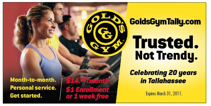 March Madness Specials at Gold's Gym – Tally Connection (Tallahassee)