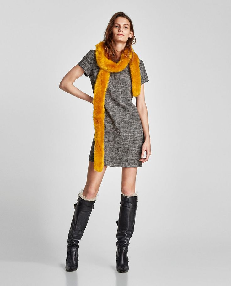 Image 1 of CHECKED DRESS WITH BACK DETAIL from Zara