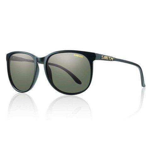 Smith Optics Mt. Shasta Sunglasses, Matte Black Frame, Polarized Gray Green Lens