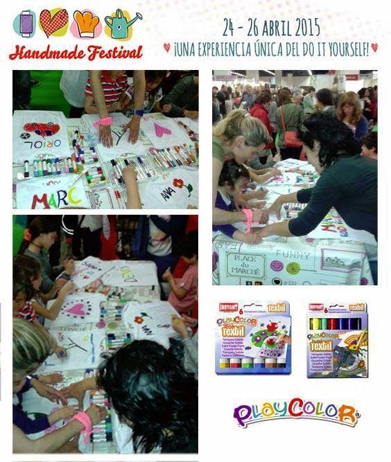PLAYCOLOR participó de la mano de Abacus en el HANDMADE FESTIVAL que se ha realizó en el recinto ferial de Barcelona. Con una gran afluencia de público en todos los talleres.