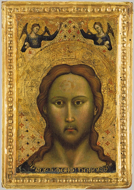 Master of the Orcagnesque Misericordia, Head of Christ, Tempera on Wood, c. 1350 - 1400